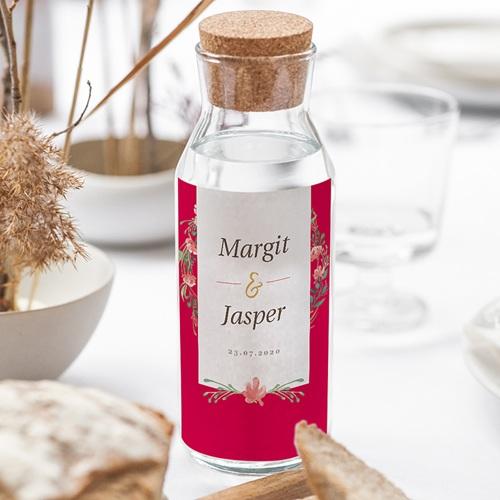Wein Flaschenetiketten Hochzeit Tropische Krone gratuit