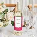 Wein Flaschenetiketten Hochzeit Tropische Krone