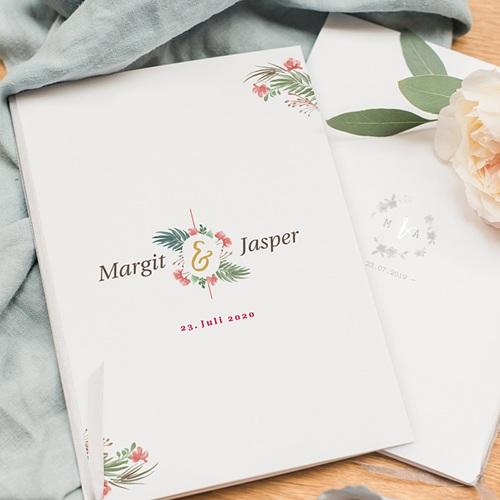 Kirchenheft Hochzeit Tropische & Goldkrone pas cher