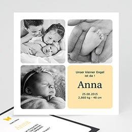 Karten Multi-photo drei Fotos - gelb