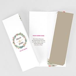 Dankeskarten Hochzeit Landhochzeit Tropische Krone
