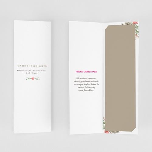 Rustikale Dankeskarten Hochzeit Tropische Krone gratuit