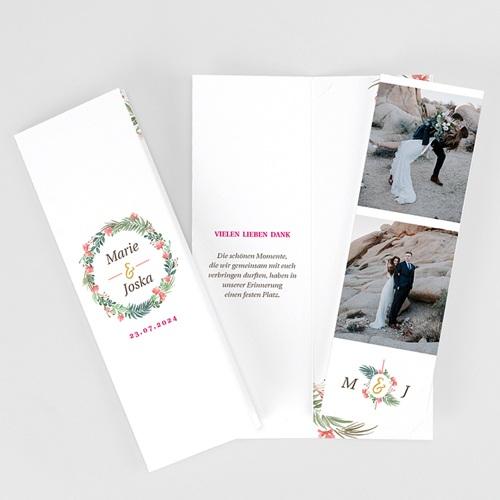 Rustikale Dankeskarten Hochzeit Tropische Krone