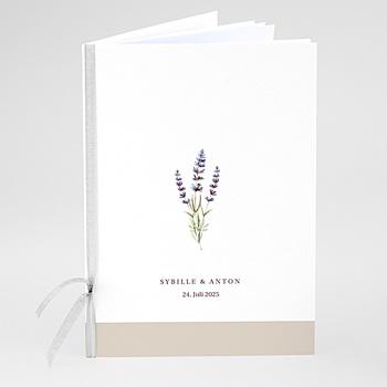Kirchenheft zur Hochzeit individuell gestalten Lavendel