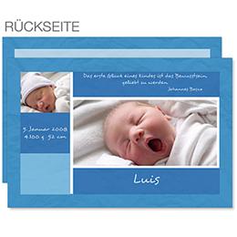 Babykarte Blau - 1