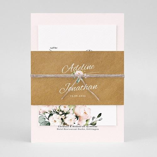 Rustikale Hochzeitseinladungen Romantisch Kraft 3 Karten pas cher