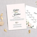 Rustikale Hochzeitseinladungen Romantisch Kraft 3 Karten