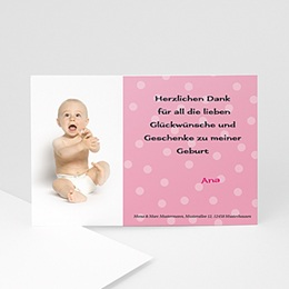 Danksagungskarten Geburt Punkte