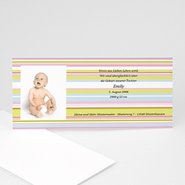 Babykarte pastell - 1