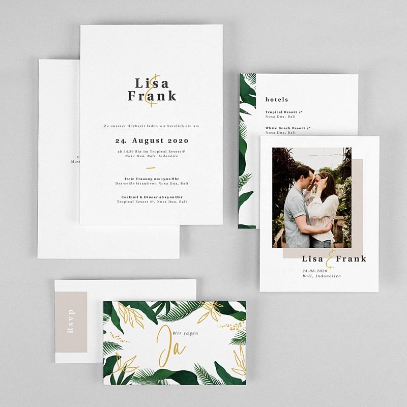 Natur Hochzeitseinladungen Tropischer Garten gratuit