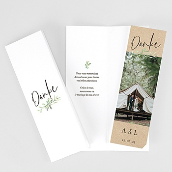 Dankeskarten Hochzeit Landhochzeit Blatt Dekoration