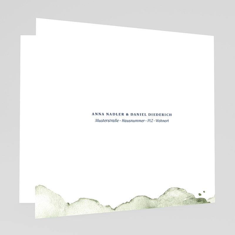 Grun Hochzeitseinladungen Aquarell grün gratuit