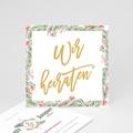 Save The Date Karten Hochzeit Tropische Krone, 10 x 10