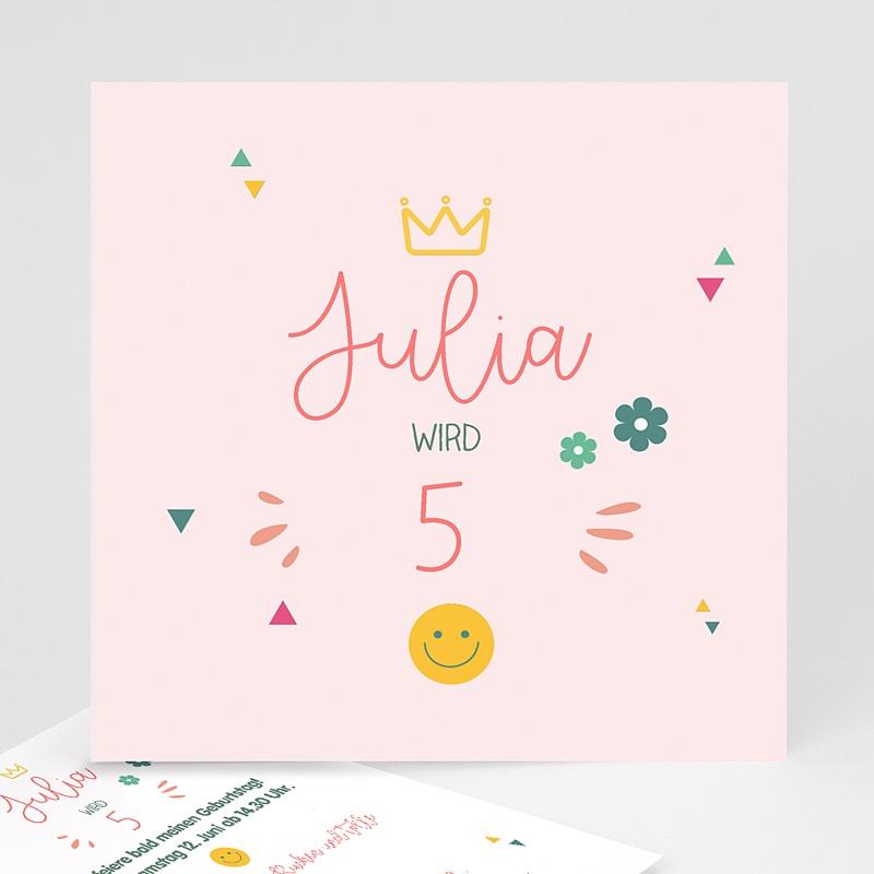 Kind Einladungskarten Geburtstag Prinzessin Girly Quadratisch