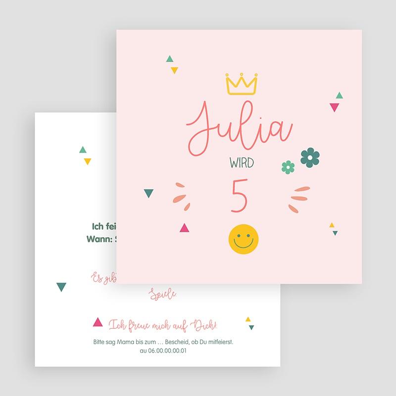 Kind Einladungskarten Geburtstag Prinzessin Girly Quadratisch gratuit