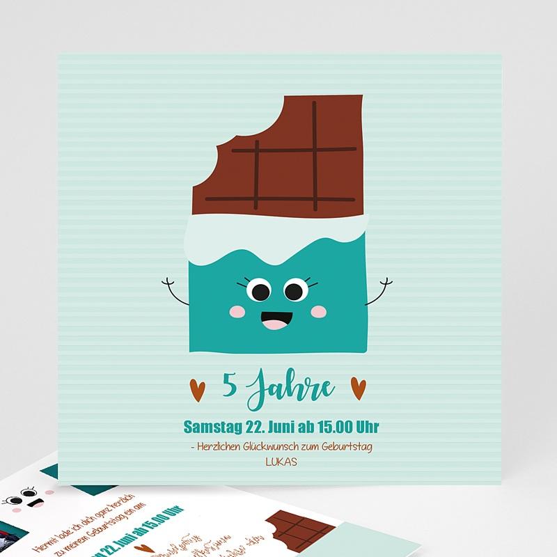 Kind Einladungskarten Geburtstag Schokoladen-Show