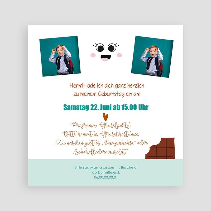 Kind Einladungskarten Geburtstag Schokoladen-Show pas cher