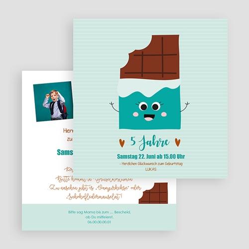 Kind Einladungskarten Geburtstag Schokoladen-Show gratuit