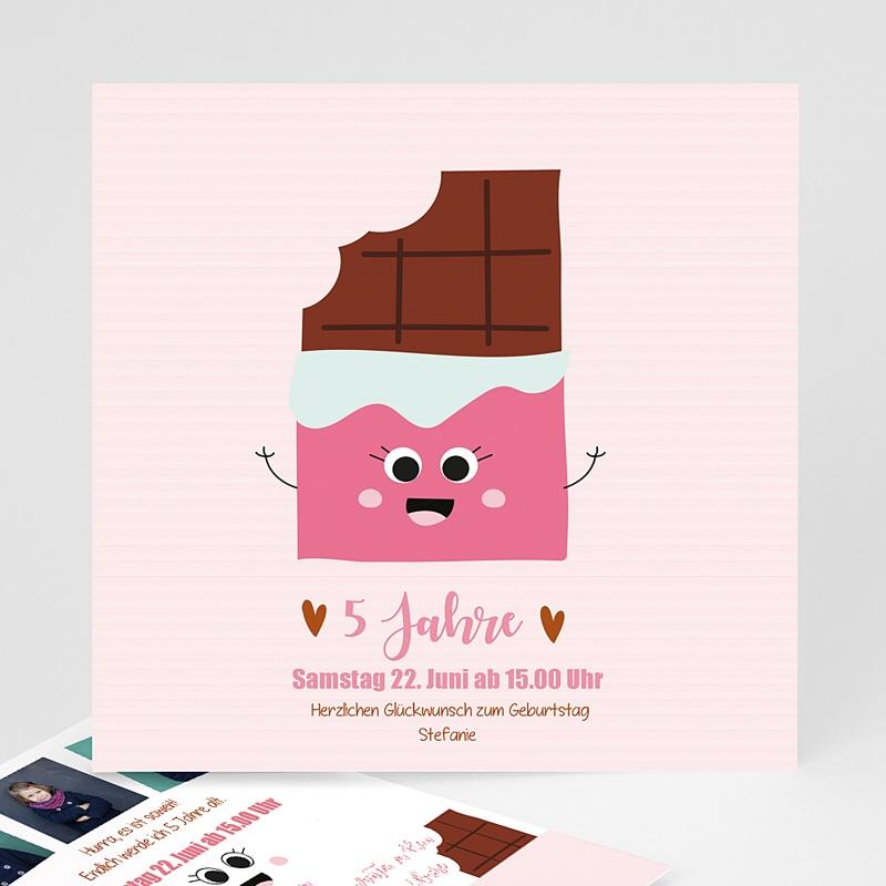 Kind Einladungskarten Geburtstag 5 Jahre Schoki