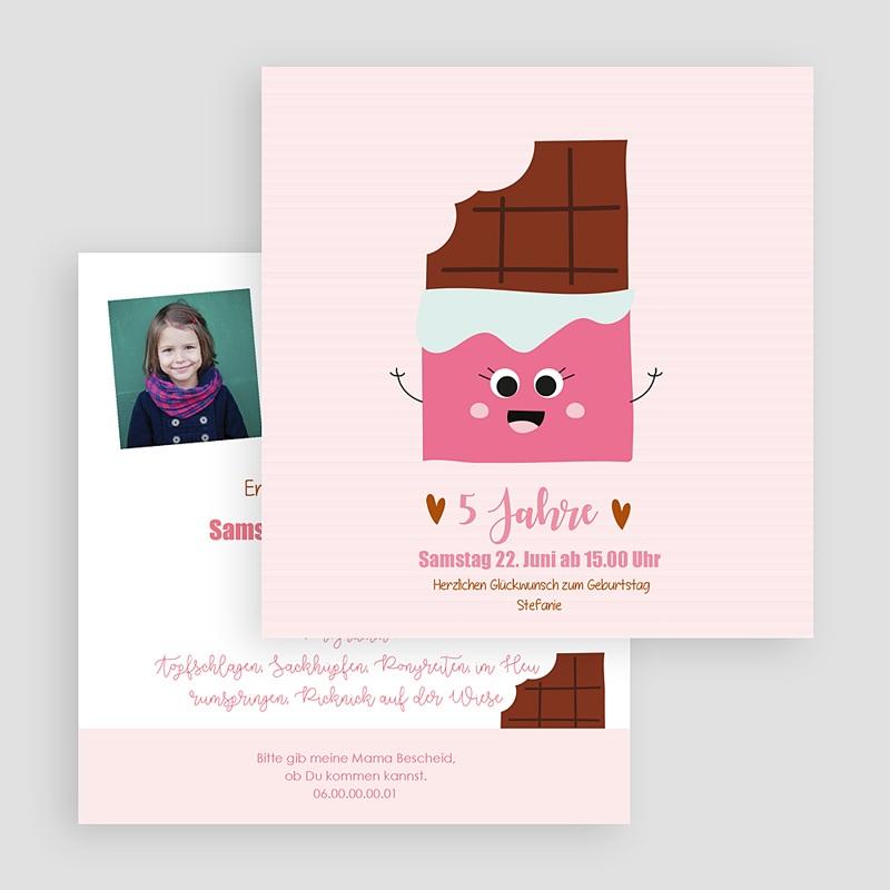 Kind Einladungskarten Geburtstag 5 Jahre Schoki gratuit