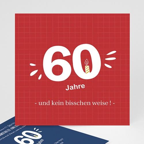 Erwachsener Einladungskarten Geburtstag 60 Jahre. Na und?