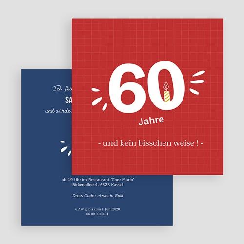 Erwachsener Einladungskarten Geburtstag 60 Jahre. Na und? gratuit