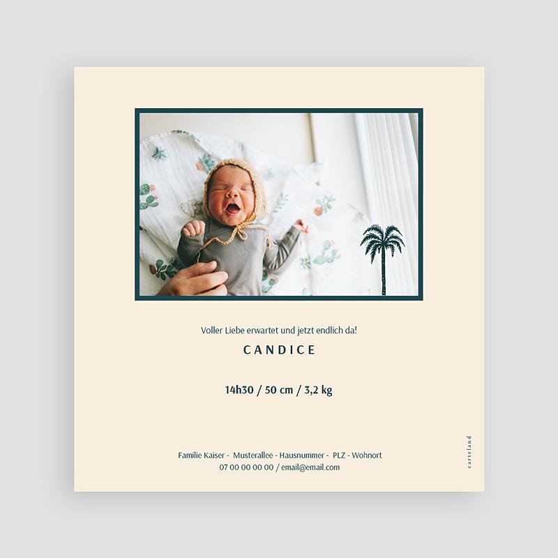 Adoptionskarten für Mädchen Palmenbaum Côte d'Azur Quadratisch pas cher