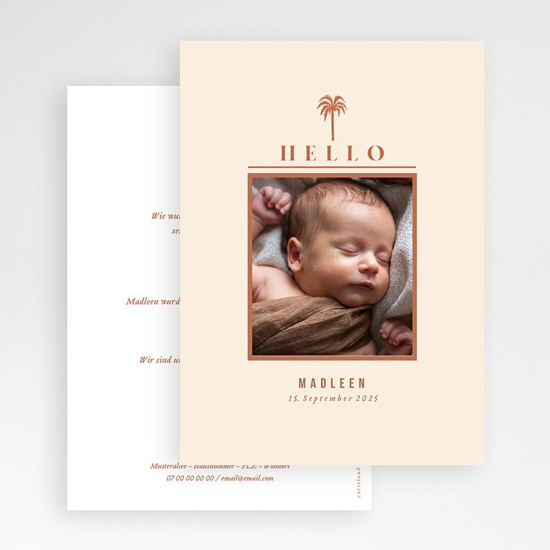 Adoptionskarten für Mädchen Der Garten Eden gratuit