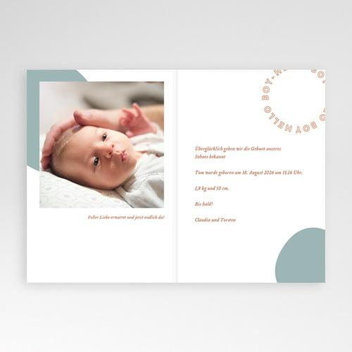 Adoptionskarten für Jungen Medaillon Hello Klappkarte pas cher