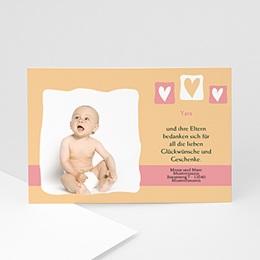 Danksagungskarten Geburt Kleine Herzen