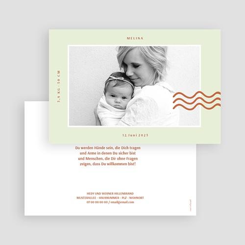 Adoptionskarten für Mädchen Glückswelle gratuit