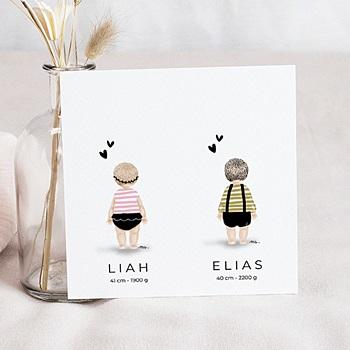 Geburtskarten Für Zwillinge Kostenloser Probedruck Carteland