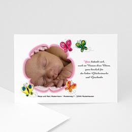 Danksagungskarten Geburt Flattern