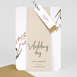 Rustikale Hochzeitseinladungen - Schöne Zweige - 0