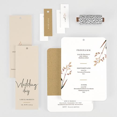 Rustikale Hochzeitseinladungen Schöne Zweige gratuit