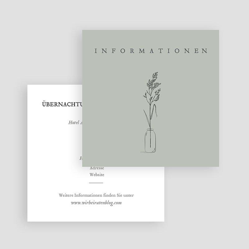 Antwortkarten Hochzeit Liebeszweig gratuit