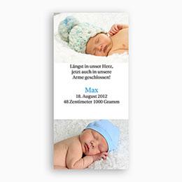 Karten Geburt Doppelfoto