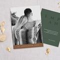 Winter Hochzeitseinladungen Holzfarben