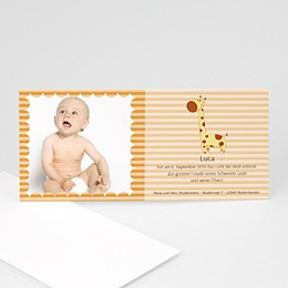 Karten Geburt Adele, die Giraffe