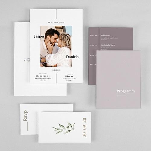 Violett Hochzeitseinladungen Be Bold gratuit