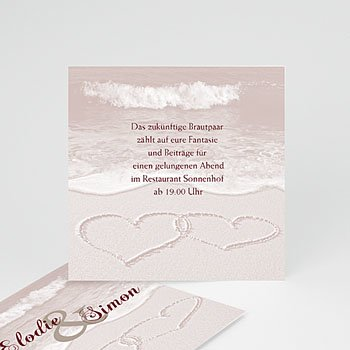 Einlegekarte individuell - Hochzeitskarte Rom - 1