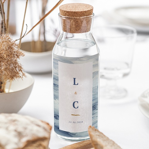Wein Flaschenetiketten Hochzeit am Meer gratuit
