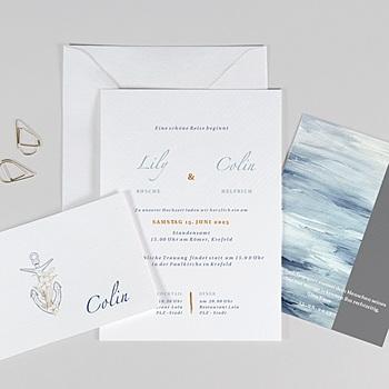 Hochzeitseinladungen Maritim am Meer