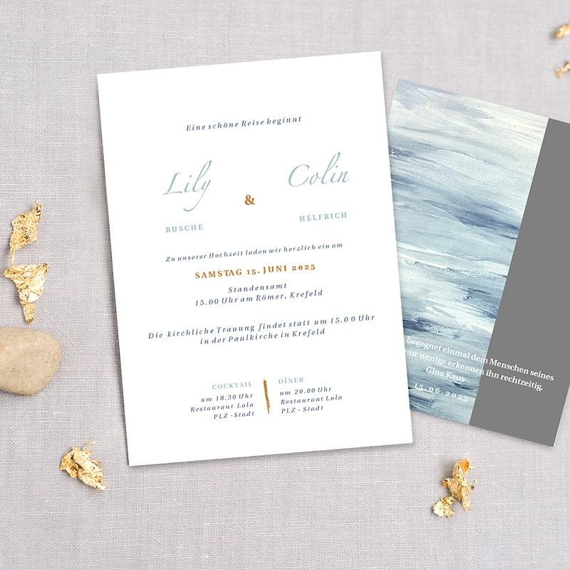Maritime Hochzeitseinladungen am Meer