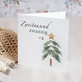Geschäftliche Weihnachtskarten Bastelbaum
