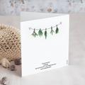 Geschäftliche Weihnachtskarten Bastelbaum gratuit