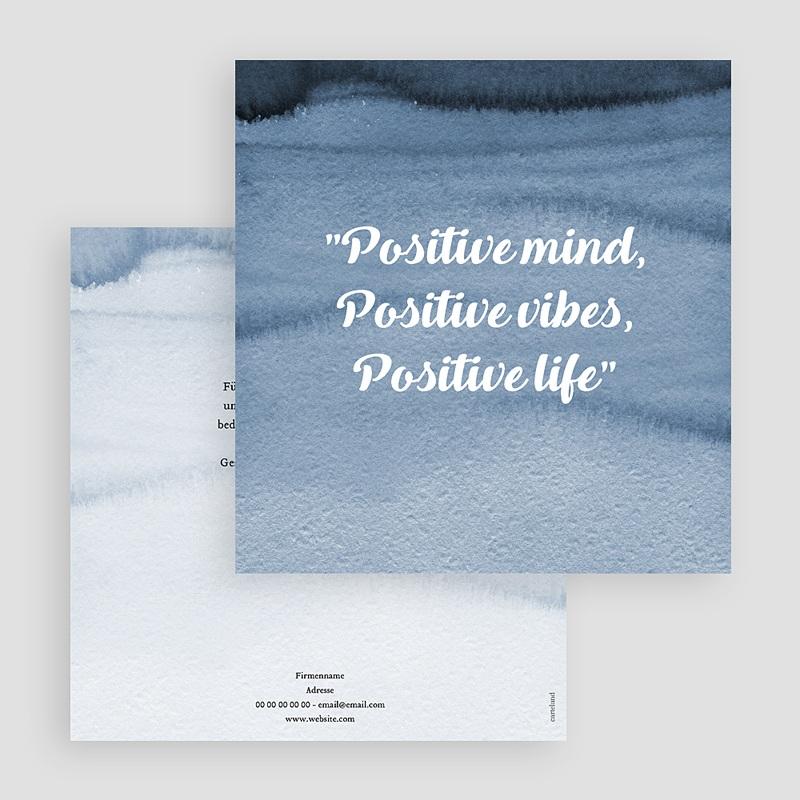Geschäftliche Weihnachtskarten positives Denken gratuit