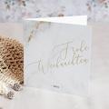 Geschäftliche Weihnachtskarten Marmor und Goldprägung