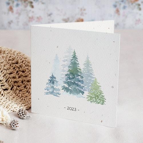 Geschäftliche Weihnachtskarten Aquarell Wald