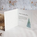 Geschäftliche Weihnachtskarten Aquarell Wald pas cher